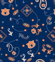 "Auburn University Tigers Cotton Fabric 44""-Bandana, , hi-res"