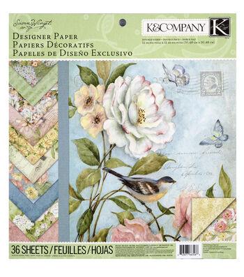 K&Company Susan Winget 36 Sheets 12''x12'' Designer Paper Pad-Floral