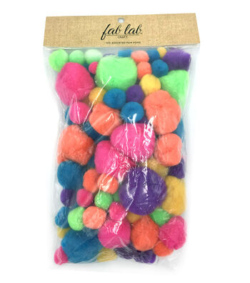 Darice Big Value Pom Poms-100 pieces