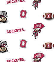 "Ohio State University Buckeyes Cotton Fabric 43""-Allover, , hi-res"