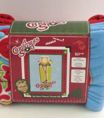 """A Christmas Story No Sew Fleece Throw Kit 48""""- Leg Lamp"""