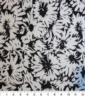 Nicole Miller Twill Fabric-Daisy Black/White