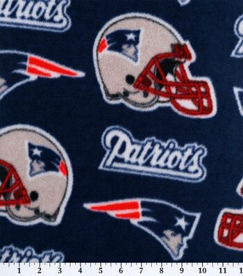 "New England Patriots Fleece Fabric 58""-Logo"