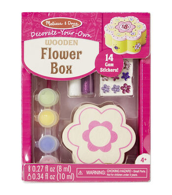 Melissa & Doug® Decorate-Your-Own Wooden Flower Box Craft Kit