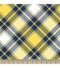 Blizzard Fleece Fabric 59\u0022-Annie Plaid Yellow