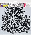 Crafter\u0027s Workshop Julie Fei-Fan Balzer Template 12\u0027\u0027x12\u0027\u0027-Dramatic Floral