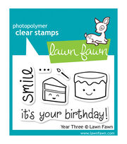 "Lawn Fawn Clear Stamps 3""X2""-Year 3, , hi-res"