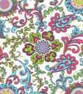 Keepsake Calico™ Cotton Fabric-Paisley Pink Floral Large