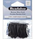 Korean  Wax Cord 1.5mm 7 Yards/Pkg-Black