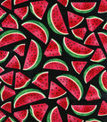 Novelty Cotton Fabric 44\u0022-Watermelon Slices