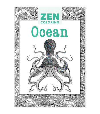 Adult Coloring Book-Guild of Master Craftsman Zen Coloring Ocean