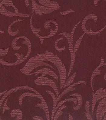 "Signature Series Solid Jacquard Fabric 54""-Burgundy"