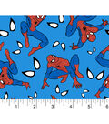 Marvel Comics Spiderman Flannel Fabric 42\u0027\u0027-Spidey Eyes