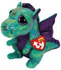 Ty Beanie Boos Cinder The Green Dragon Medium Plush