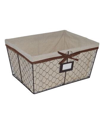 Farm Storage Medium Lined Chicken Wire Basket