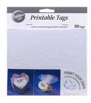 Wilton® 80ct Printable Circle Favor Tags-White, , hi-res