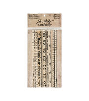 Tim Holtz® Idea-ology® Pack of 5 6'' Ruler Pieces, , hi-res