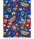 Snuggle Flannel Fabric 42\u0027\u0027-So Hot Peppers & Tacos