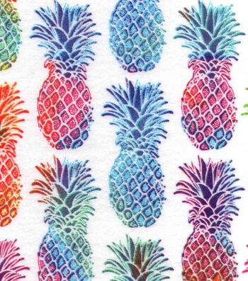 "Snuggle Flannel Print Fabric 42""-Bright Pineapple"