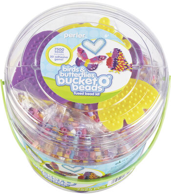 Perler Fun Fusion Fuse Bead Activity Bucket Birds & Butterflies