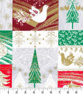 Keepsake Calico Christmas Cotton Fabric-Christmas Blocks Lg