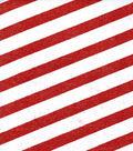 Sew Sweet Glitter Stripe Organza-Red