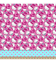 "Sanrio Hello Kitty® Mock Smock Fabric 21""-Dots, , hi-res"