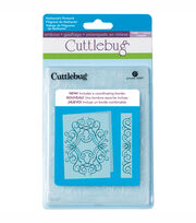 "Cuttlebug 5""X7"" Embossing Folder/Border Set-Nathaniels' Penwork, , hi-res"