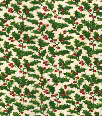 Maker's Holiday Cotton Print Fabric 44''-Holly