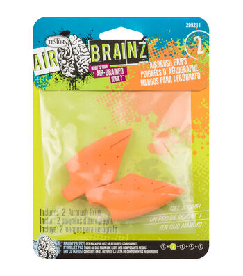 AirBrainz Airbrush Grips 2/Pkg-Orange