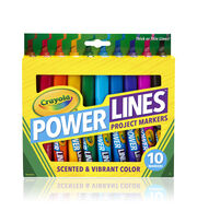 Crayola Powerlines Washable Markers W/Scents 10/Pkg, , hi-res