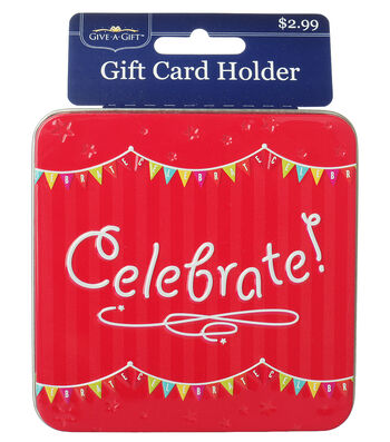 Celebrate Square Gift Card Holder