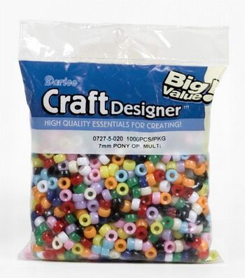 Big Value Pony Beads-7MM Assorted