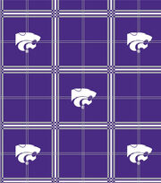 "Kansas State University Wildcats Flannel Fabric 42""-Plaid, , hi-res"