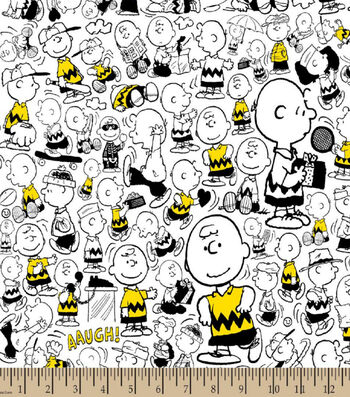 "Peanuts Cotton Fabric 43""-Charlie Brown"