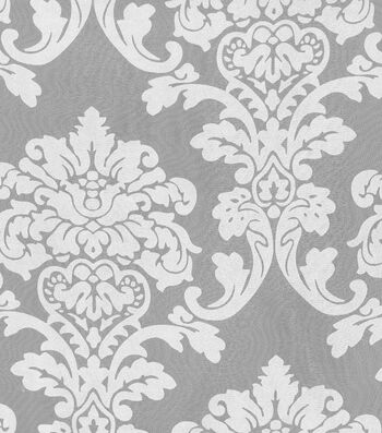 "Waverly Sheer Fabric 54""-Damask Burnout Sheer"