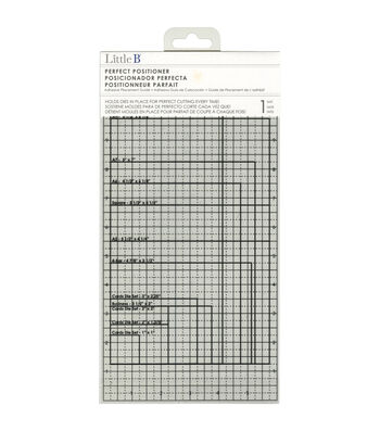 """Little B Perfect Positioner Adhesive Die Placement Guide-12""""X6"""""""