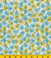 "Made in America Cotton Fabric 44""-Bunches Of Daisies, , hi-res"