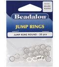 Beadalon Jump Rings 7.6mm 20PK-Silver