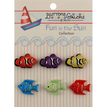 Fun In The Sun Buttons-Exotic Fish