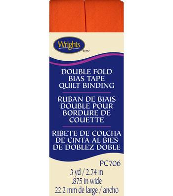 Double Fold Quilt Binding 3 Yd Orange