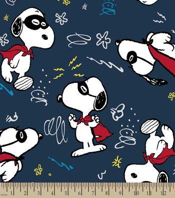 Peanuts™ Print Fabric-Super Snoopy