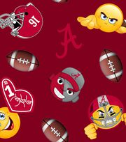 "University of Alabama Crimson Tide Fleece Fabric 60""-Emoji, , hi-res"