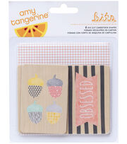 American Crafts Amy Tangerine Stitched Die-Cut Printed Chipboard, , hi-res