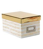DCWV Mini Box: White with gold foil accents, , hi-res
