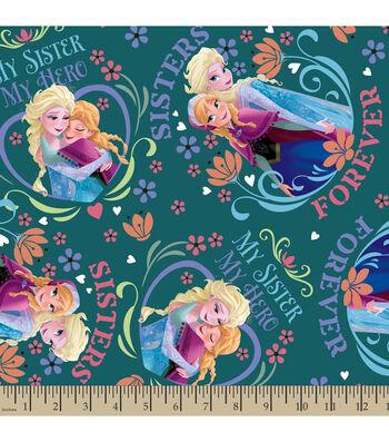 """Disney Frozen Fleece Fabric 59""""-My Sister My Hero"""