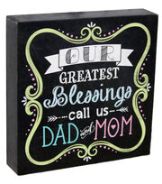 Escape To Paradise Wall Banner-Blessing Dad And Mom, , hi-res