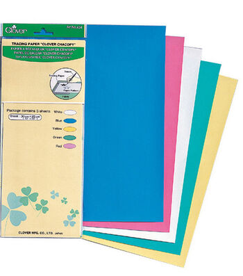 "Clover® Chacopy Tracing Paper 12""x10"" 5/pkg"