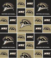 "Western Michigan University Broncos Cotton Fabric 45""-Block, , hi-res"