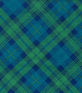 Snuggle Flannel Fabric 42\u0022-Blue Green Bias Plaid